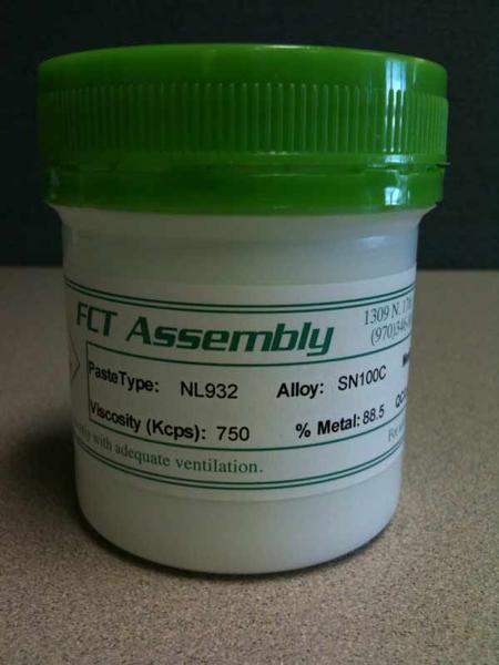 NL932:Halogen-free, lead-free solder paste (SAC or SN100C) .