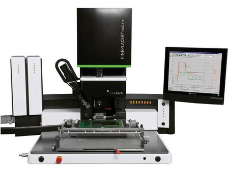 The FINEPLACER® matrix rs is a semi-automatic rework station representing the latest development from Finetech, encompassing the