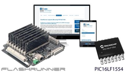 FlashRunner programmers support Microchip PIC16LF1554