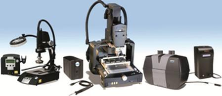 Among the comprehensive selection of OK International technologies being supplied by Mektronics are advanced bench top soldering and desoldering tools, array package rework equipment, fluid dispensing systems and accessories, and fume extraction systems.