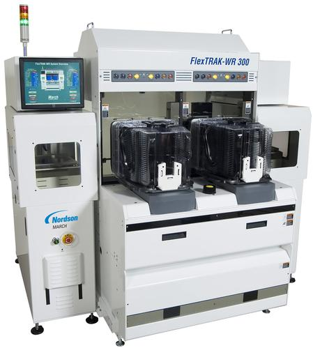 The FlexTRAK™-WR system is designed for high-throughput processing of semiconductor wafers up to 300mm (12 in.) in diameter. The patented plasma chamber design provides exceptional etch uniformity and process repeatability. Its three-axis symmetrical chamber ensures all areas of the wafer are treated uniformly, while tight control over all process parameters ensures highly repeatable results.