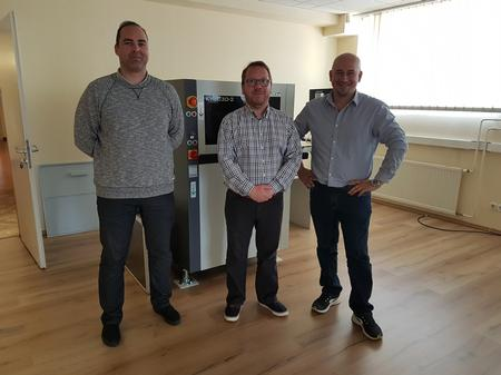 Support Grows in Danutek Hungary Kft –General Manager Csaba Berta (centre) with team members Tamas Terenyi and Abel Boldizar.