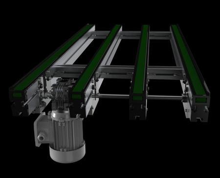 Glide-Line 4-strand belt style conveyor.
