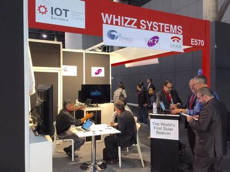 Whizz Systems, Inc. Unveils 1st Solar Beacon at IoT Congress Barcelona 2015