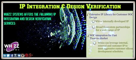 Whizz Systems offers the IP integration and design verification services. http://goo.gl/UyVjOM