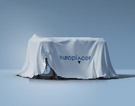 A reveal from Europlacer at Productronica.New EP platform draped.