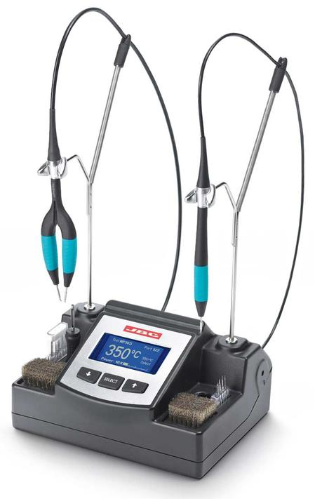 JBC Tools' Nano Station, a complete station designed for micro soldering and desoldering of small-size components such as 0201 and 0402 sized chips.