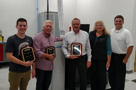 Horizon Sales with three of its 'Representative of the Year' awards for 2016.