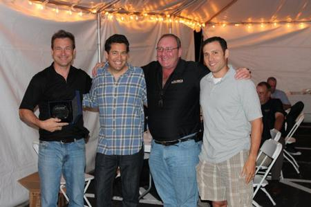 From left to right: Chris Putney, Steve Nadeau, Arnie Greenberg, and Jeremy Greenberg