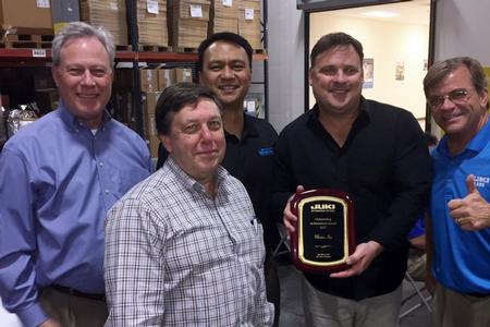 Juki Automation Systems Corporation, presented MarTec, Inc. with a 'Representative of the Year – Outstanding Achievement Award' for 2017.