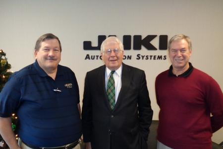 Bob Black, JAS CEO, Congressman David Price, and Dave Frac, JAS CFO.