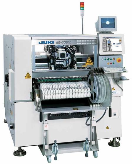 The KE1080 flexible placement machine is built on the topology of the popular KE2080 and features an IPC9850 speed of 14,100CPH.