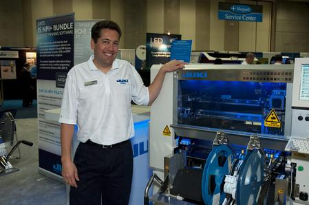 Steve Nadeau, Juki's National Sales Manager, at the IPC APEX Expo