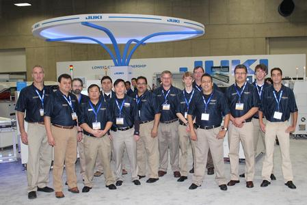 The Juki sales team at the IPC APEX Expo