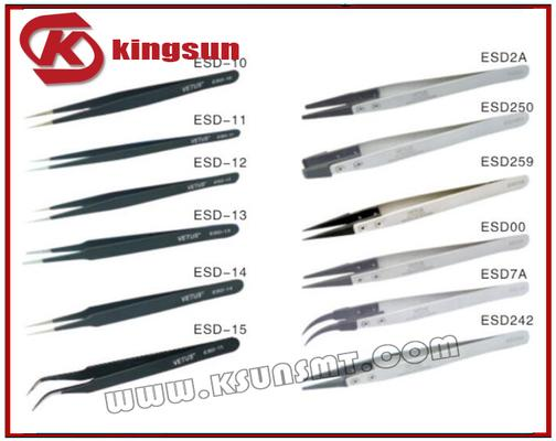 KSUN ESD series stainless steel tweezers