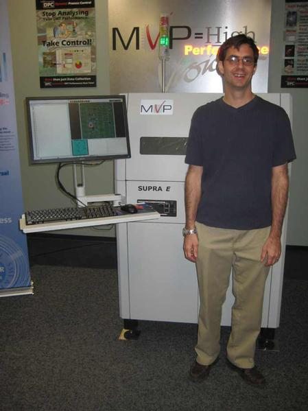 Ken Lucas of EControls with the Supra E AOI system purchased from MVP.