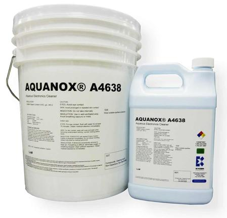 AQUANOX® A4638 is designed to remove flux residue from flip chip and low clearance components.