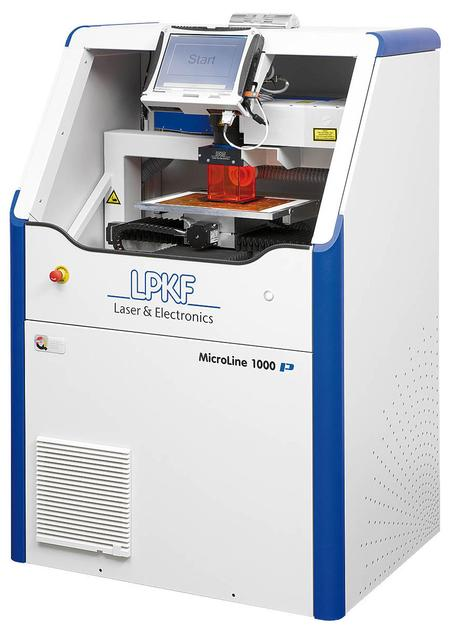 The MicroLine 1120 P is an affordable UV laser system designed for processing bare rigid and flexible PCBs.