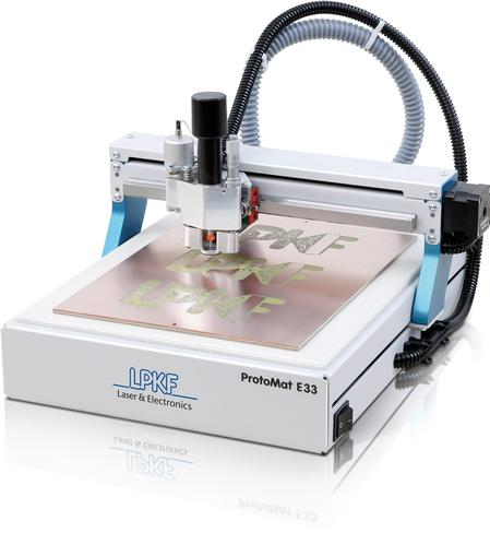 ProtoMat® E33 is an entry-level milling machine for in-house rapid PCB prototyping