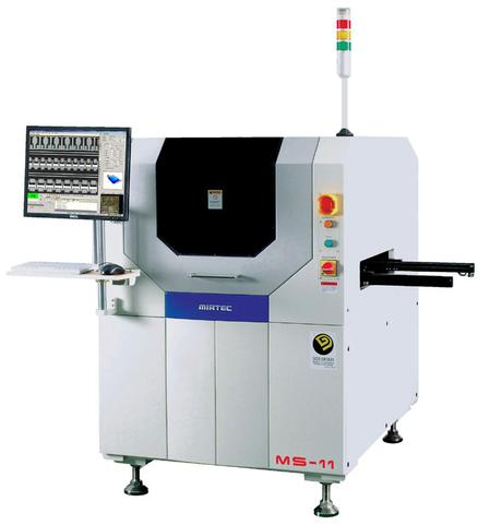The MIRTEC MS-11 In-Line SPI System uses Shadow Free Moiré Phase Shift Imaging Technology to inspect solder paste deposition on PCBs post screen print.