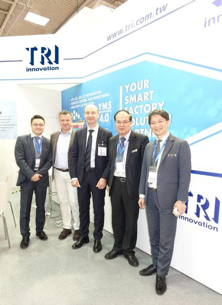 From left to right, Tom Tu - TRI's Sales Manager, Stefano Germani - ITronik's Financial Manager, Raoul Goretti - Magneti Marelli S.p.A.'s Purchasing Manager, Jim Lin - TRI's VP of Sales and Marketing, and Jacky Liu - TRI's Sales Manager