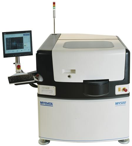The MY500 jet printer is the SMT industry's first stencil-free printer. The MY500 uses a patented JetPrinting Technology to shoot volumes of solder paste at 500 dots per second.