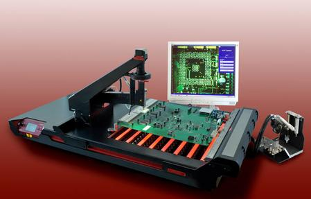 Martin's Expert 10.6XL is a fully portable, cost-effective rework solution especially suited for the repair of large, high value PCBs.