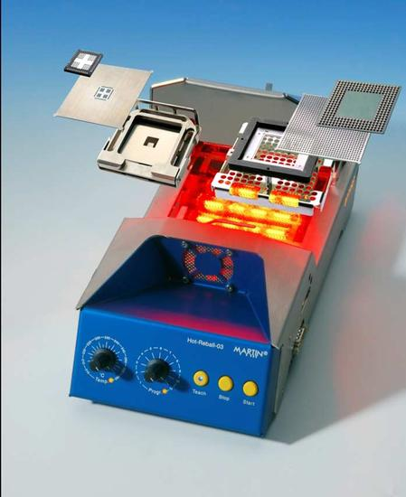 Standalone QFN Solder Bumping and BGA Reball Unit