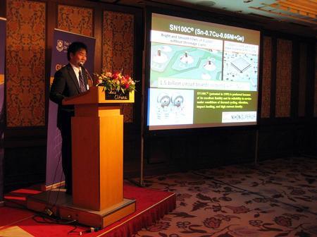 Dr. Kazuhiro Nogita explaining SN100C