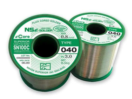SN100C (040), halogen-free lead-free flux-cored solder wire