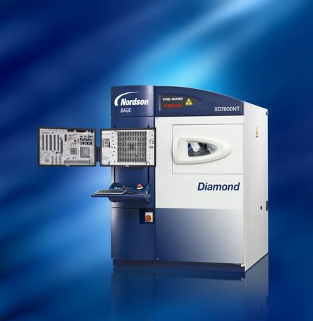 The Nordson DAGE XD7600NT Diamond FP X-ray inspection system with QuickView CT.
