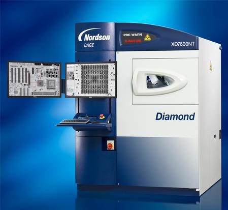 The Nordson DAGE XD7600NT Diamond FP X-ray inspection system uses the latest technology, flat panel detector to provide the ultimate choice for the highest quality real time X-ray imaging.