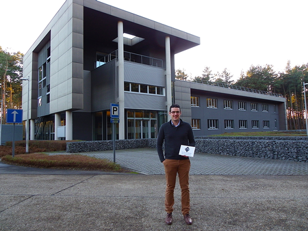 Director of business development Europe and NorthAm, Frederik Luppens, in front of Elite Advanced Technologies; new office building.