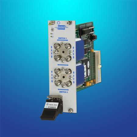 PXI Microwave Transfer Switch (40-782A) – these support either one or two transfer switches with frequency options of 18GHz, 26.5GHz and 40GHz.