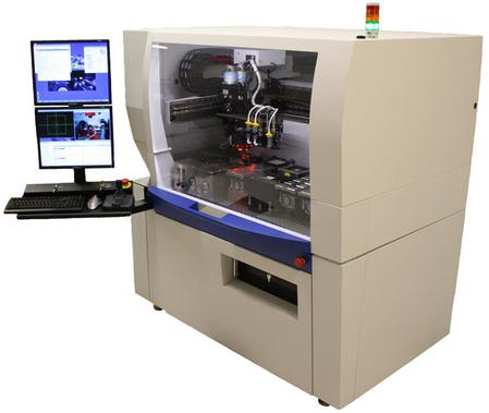 Palomar's award-winning 3800 ultra flexible die bonder.