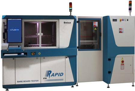 The RAPID 270 tester, the product line's flagship product, with 8 flying probes, equipped with automated vertical conveyor, meets the most demanding requirements in terms of versatility and ease of use, without compromising any  high-performance standards.
