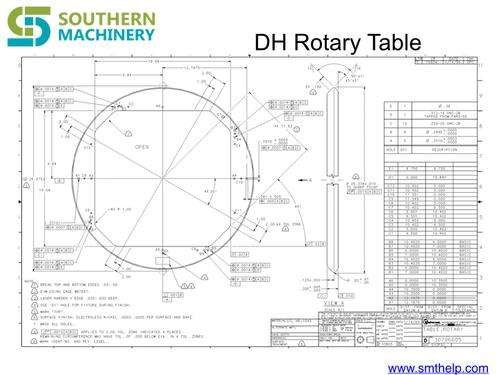 Universal Instruments Rotary table