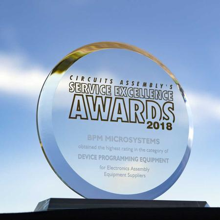 2018 Service Excellence Award for Highest Rating Customer Service in Device Programming Equipment.