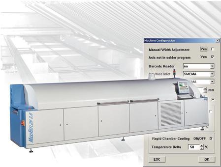 MaxiReflow soldering system.
