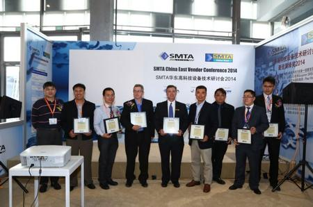 Best Paper/Presentation Awards, Best Exhibit Awards Presented by SMTA China during the SMTA China East 2014 Conference.
