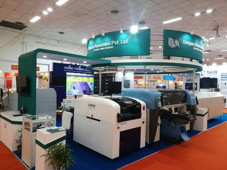 Phew! Made it! Speedprint screen printer makes it to Productronica India in the nick of time.