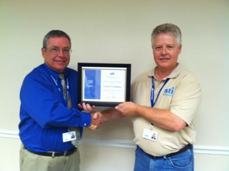 Chuck Callahan recently celebrated his 10-year anniversary with the company.
