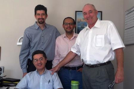From left to right: Andres Luna (seated) Francisco Villaseñor, Edgar Enriquez, Dee Claybrook
