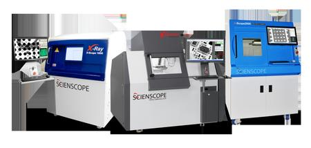 Scienscope's line of state-of-the-art X-ray inspection systems and microscopes.