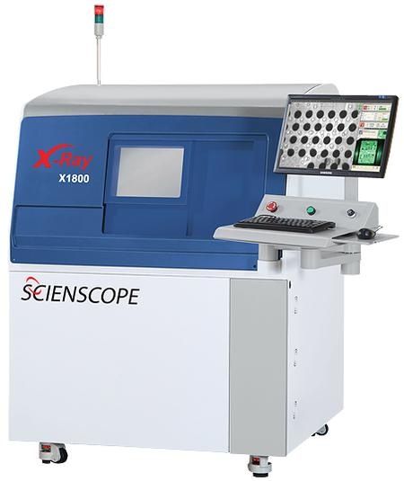 The X-SCOPE 1800 X-Ray Inspection System is the new addition to the X-SCOPE Series inspection systems featuring wide inspection area with tilting X-Ray tube capability.