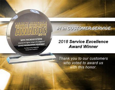 BPM wins 2018 Service Excellence Award