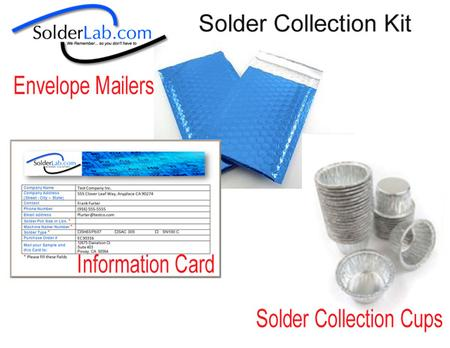 Solder Collection Kit.