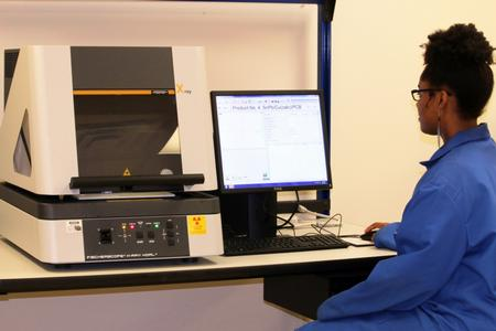 Fischerscope X-ray XDAL 237 energy dispersive X-ray fluorescence (EDXRF) system.