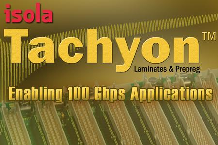 Tachyon laminate materials are available in optimized laminate and prepreg forms in typical thicknesses and standard panel sizes to provide a complete material solution for high-speed digital designs.