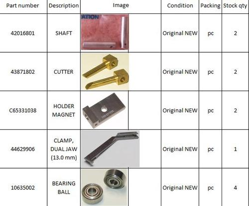 Universal Instruments Spare parts